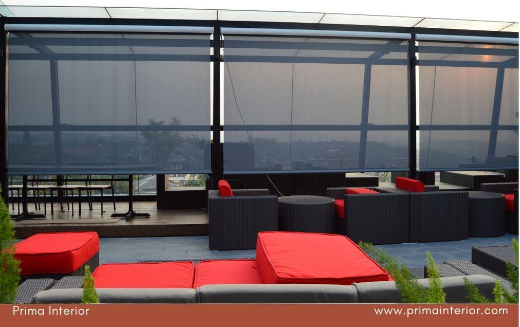 Jual Suntex Blind Tirai Outdoor untuk Cafe dan Restaurant Terlengkap Di Jogja