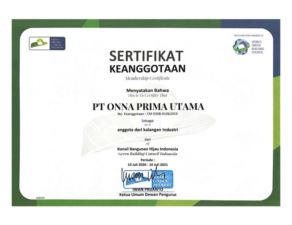 Sertifikasi Green Building Council Indonesia